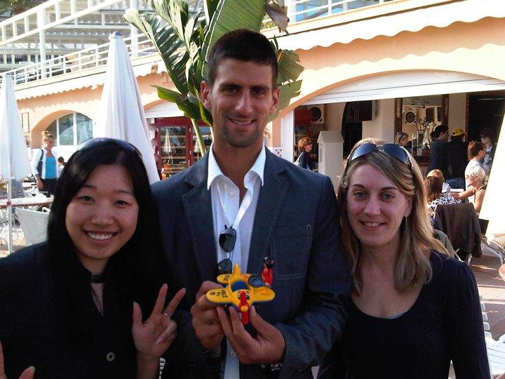 Novak Djokovic Wing Tennis Present