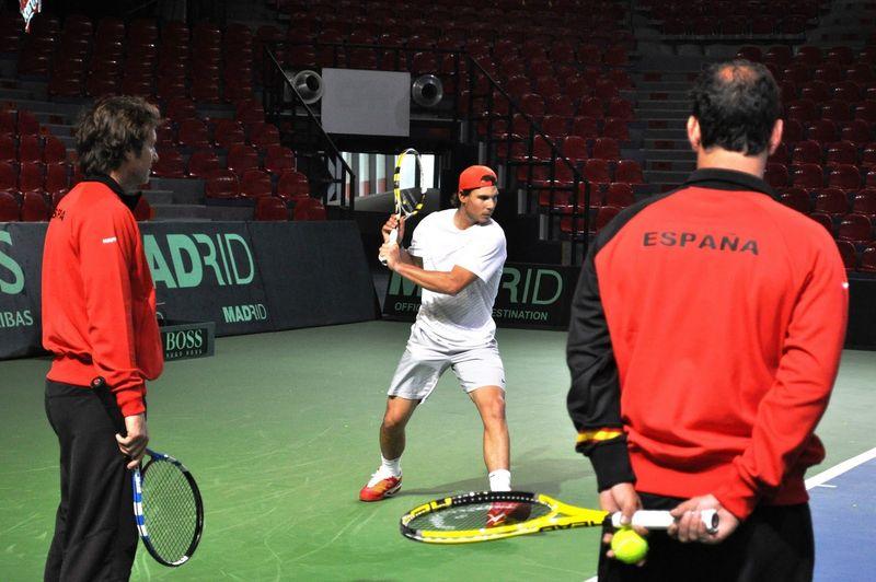Rafael Nadal Davis Cup.11 Round 1 Practice 2
