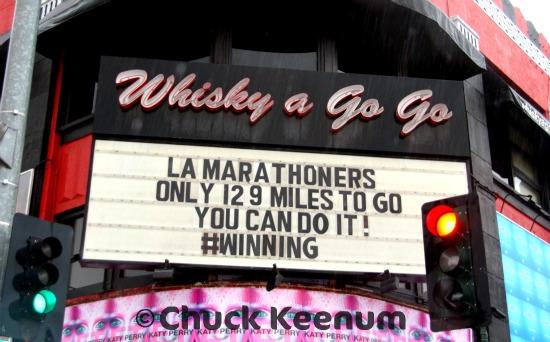 3 LA Marathon Wisky a Go Go