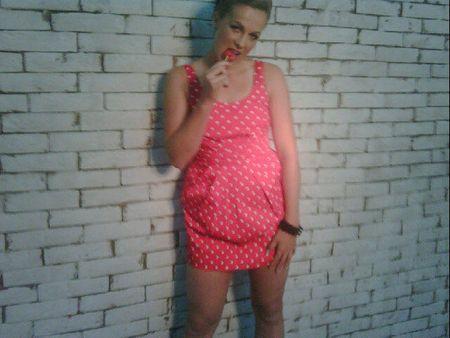 Anastasia Pavlyuchekova Pink Dress tw