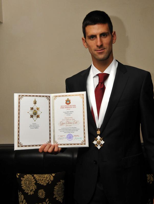 Novak Djokovic Saint Sava Honor 2