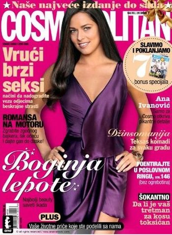 Ana Ivanovic Covers Serbian Cosmo