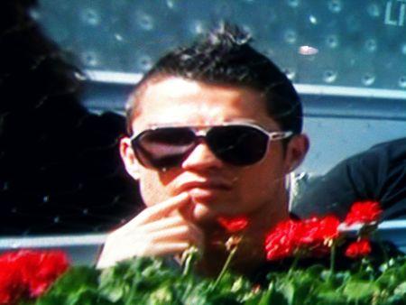 Cristiano Ronaldo Attends Rafael Nadal's Match in Madrid 2011