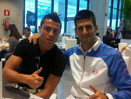Novak Djokovic Madrid.11 Meets Cristiano Ronaldo