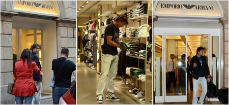 Rafael Nadal Shops Armani