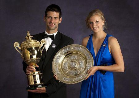 Novak Djokovic Petra Kvitova Wimbledon Champions Dinner
