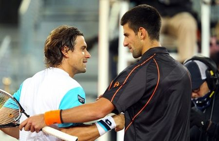 Novak Djokovic David Ferrer Madrid.11 Qf at Net g