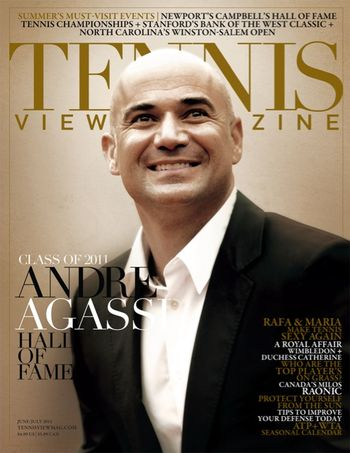 Andre Agassi Tennis View Mag Cover