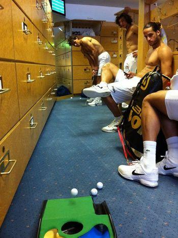 Rafael Nadal Feliciano Lopez Juan Monaco Wimbledon.11 Locker Room fb