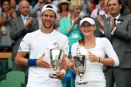 Jurgen Melzer Iveta Benesova Wimbledon Mixed Winners g