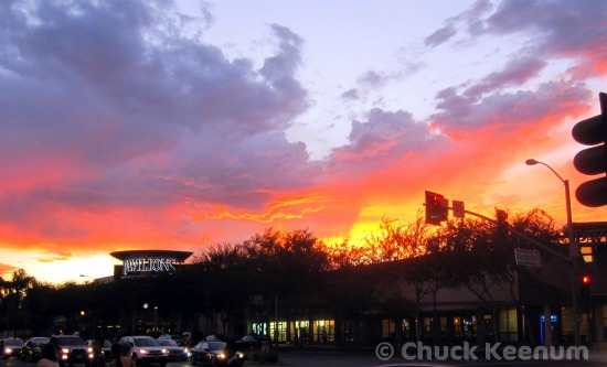 WeHo Flaming Sunset - Lens Angeles