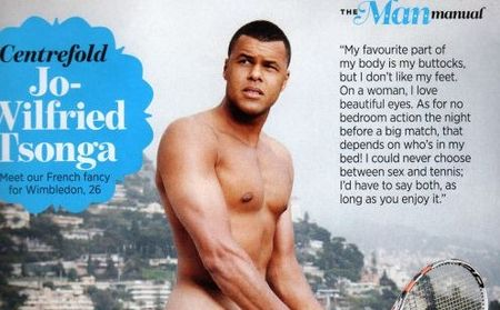 Jo-Wilfried Tsonga Cropped Cosmo Centerfold