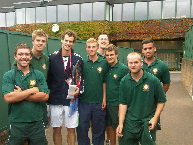 Andy Murray Wimbledon.11 with Grounds Men