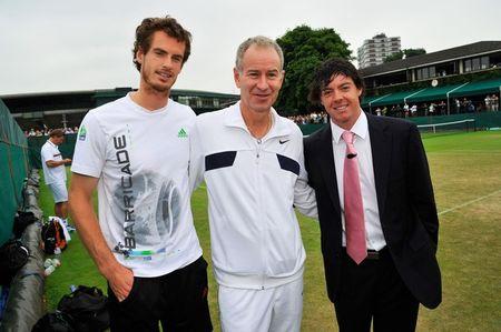 Andy Murray John McEnroe Rory McIlroy Wimbledon.11 g
