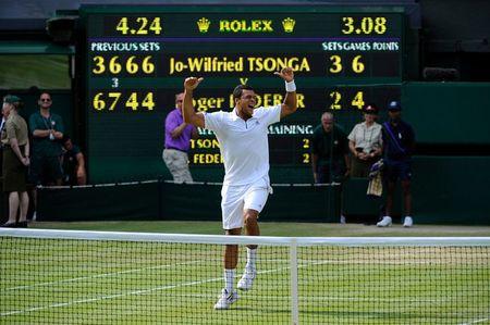 Jo-Wilfried Tsonga Wimbledon.11 Qf Win