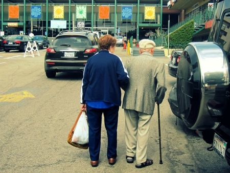 Copy of Old Couple Holding Hands