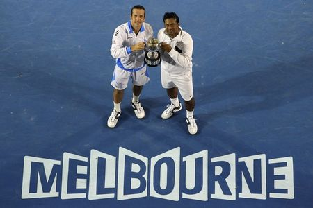 Radek Stepanek Leander Paes AO.12 Doubles Winners g