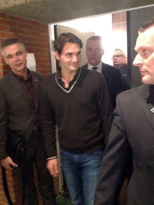Roger Federer Attends Rottendam Phil 1