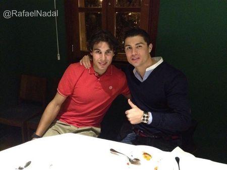 Rafael Nadal Dines with Cristiano Ronaldo