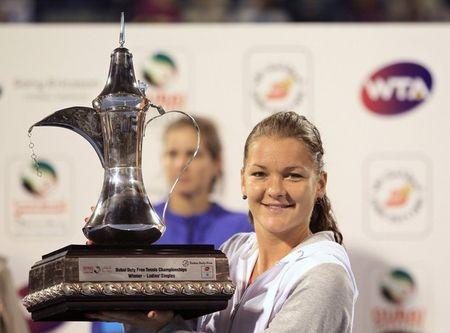 Agnieszka Radwanska Dubai 2012 Winner r