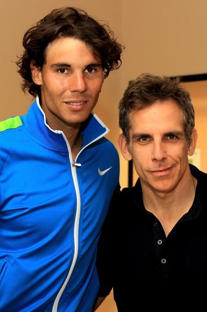 Rafael Nadal Indian Wells 2012 with Ben Stiller g