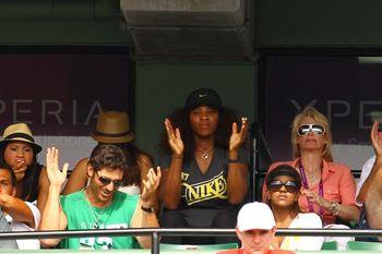 Serena Williams Miami 2012 Watches Venus 3rd R Win g