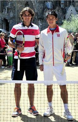 Rafael Nadal & Kei Nishikori Barcelona 2012 Sagrada Familia Exo 1