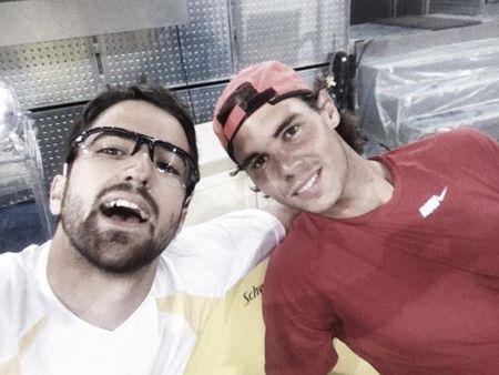 Rafael Nadal & Janko Tipsarevic Madrid 2012 Practice jt fb