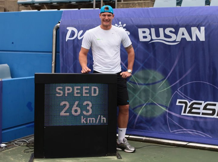 Sam Groth Hit Ace Record