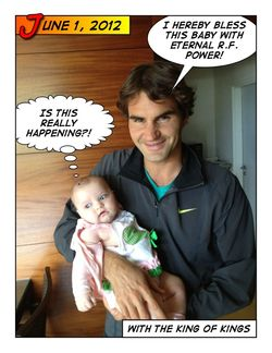 Micaela Bryan & Roger Federer