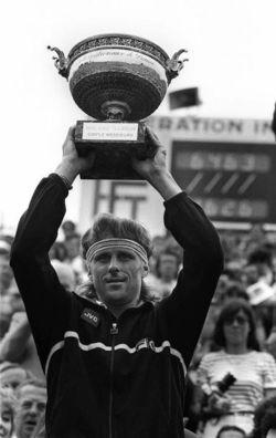 Bjorn Borg and RG Trophy vintage