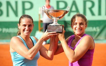 Sara Errani & Robert Vinci Roland Garros Women's Doubles Winners fft