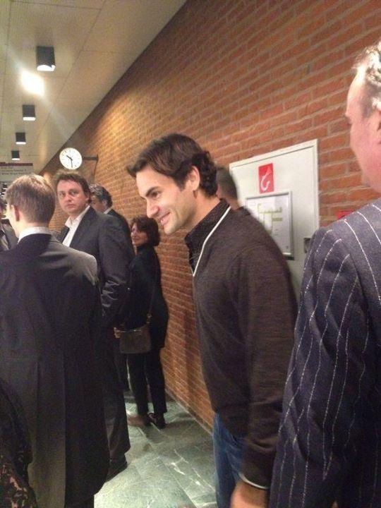 Roger Federer Attends Rottendam Phil 2