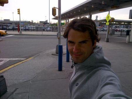 Roger Federer in NYC 3.4.12