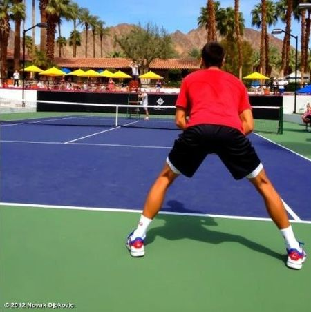 Novak Djokovic Indian Wells 2012 Practice