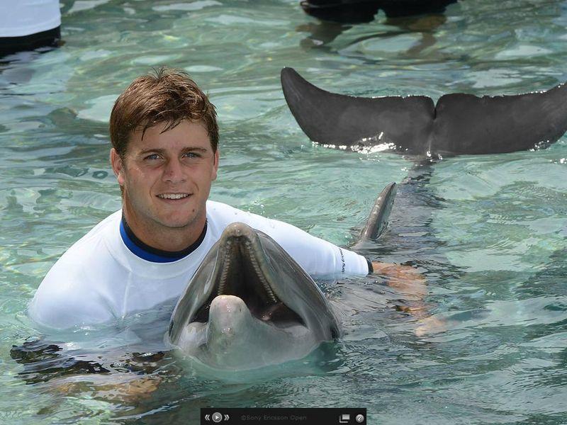 Ryan Harrison Miami 2012 Swim with Dolphins fb