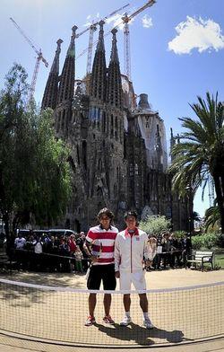 Rafael Nadal & Kei Nishikori Barcelona 2012 Sagrada Familia Exo 2