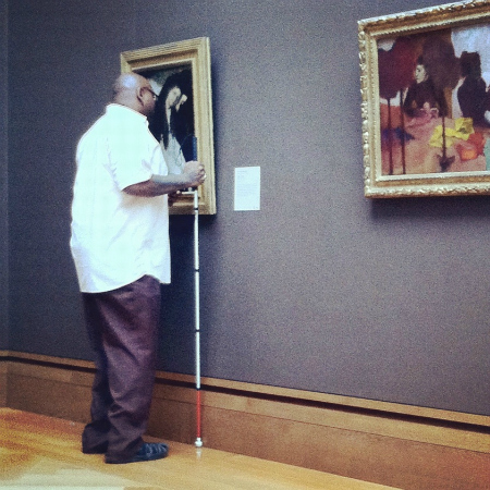 Copy of Blind Guy at the Getty