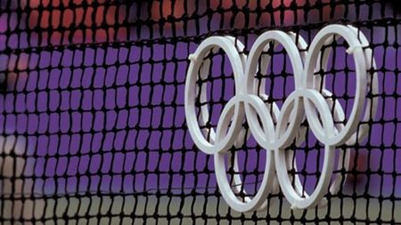Olympic Rings on Tennis Net