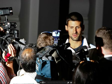 Novak Djokovic Dubai 2012 Facing Media