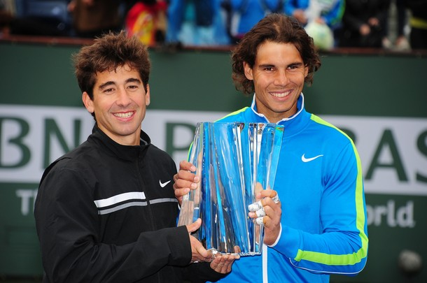 Rafael Nadal & Marc Lopez Indian Wells 2012 Doubles Winners g
