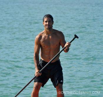 Fernando Verdasco Miami 2012 Paddle Boarding 3