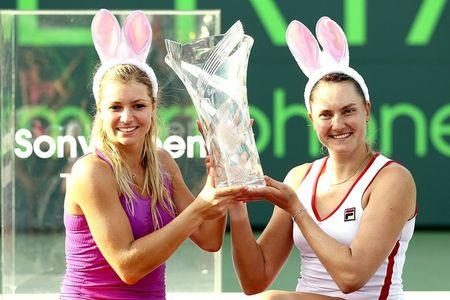 Maria Kirilenko & Nadia Petrova Miami 2012 Doubles Winners g