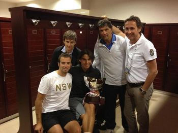 Rafael Nadal Monte Carlo 2012 Winner with Team fb