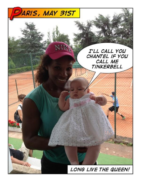 Micaela Bryan & Serena Williams