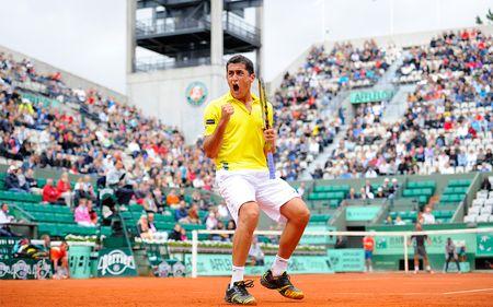 Nicolas Almagro Roland Garros 2012 4th R Win fft