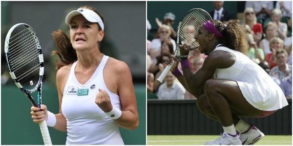Serena Williams & Agnieszka Radwanska Wimbledon 2012 Semifinal Winners