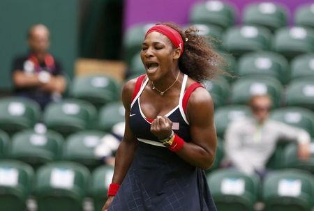 Serena Williams Olympics 1st Round Win r