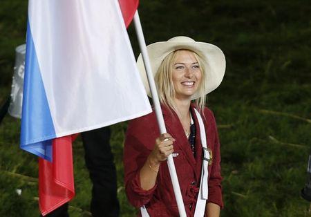 Maria Sharapova Olympics 2012 Flag Bearer