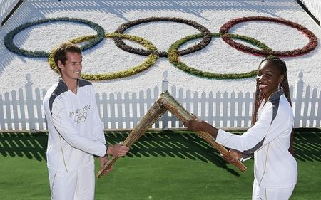 Andy Murray Venus Williams Olympic Torch r